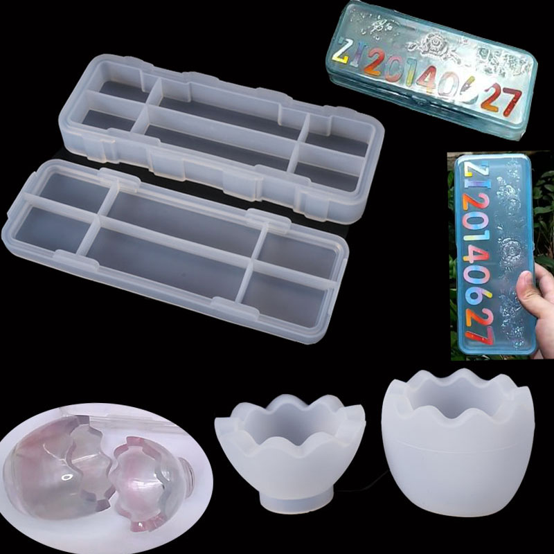 Stationery Box Egg Storage Box Jewelry Mold Art Decoration Jewelry Accessories Dried Flower UV Resin Jewelry Tools