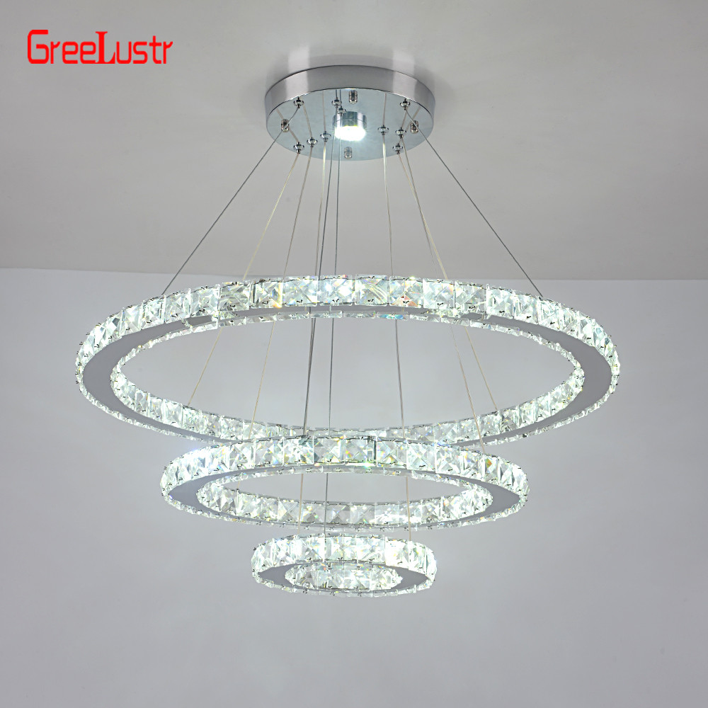 Modern K9 Crystal Led Chandelier Pendant Lamp Luxury Led  Hanging Light for Living Room Luminaire Chandeliers Light 110V-220V