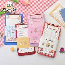 Minkys kawaii 30 folhas notas de memorando com bloco de transferência conjunto de papel recarregáveis para fazê-lo lista de verificação bloco de notas papelaria