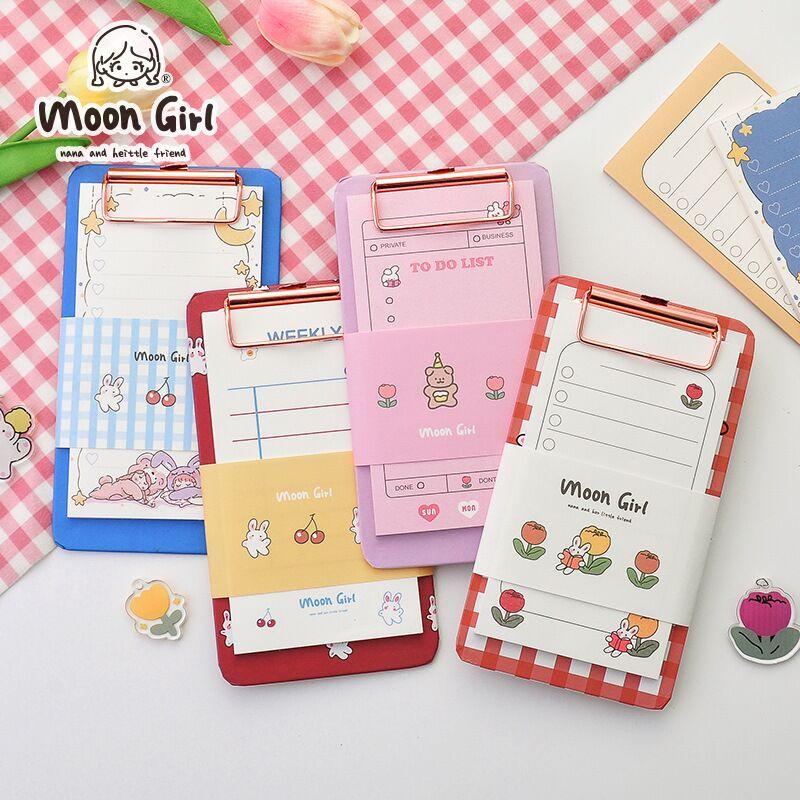 Minkys kawaii 30 folhas notas de memorando com bloco de transferência conjunto de papel recarregáveis para fazê-lo lista de verificação almofadas de memorando papelaria paperlarial