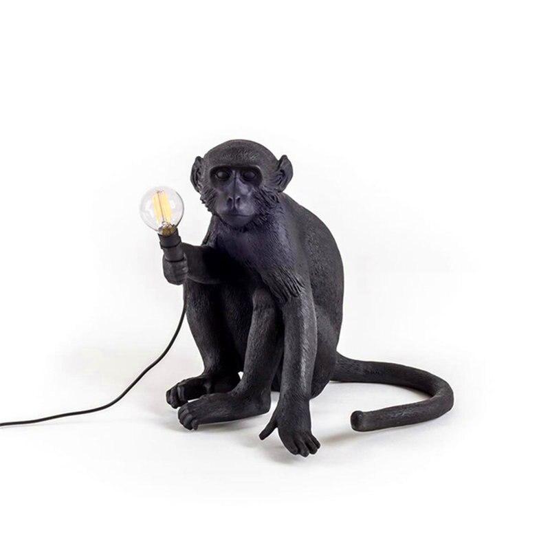 lowest price Modern Monkey Lamp Resin Pendant Lights Retro LED kids room Bedroom Cafe White Bar Pendant Lamp Lighting Kitchen light fixtures