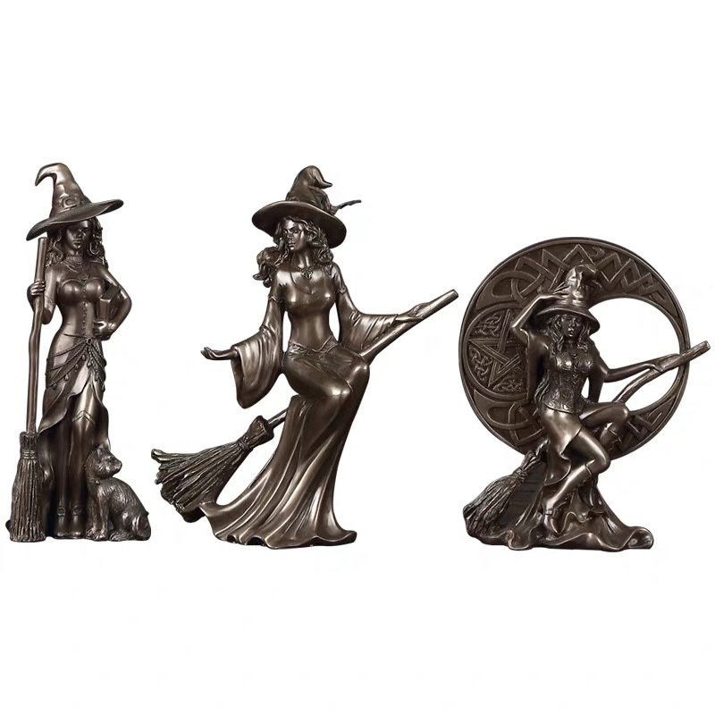 Europe and the United States retro creative modern minimalist home accessories personality witch craft ornaments statue model image