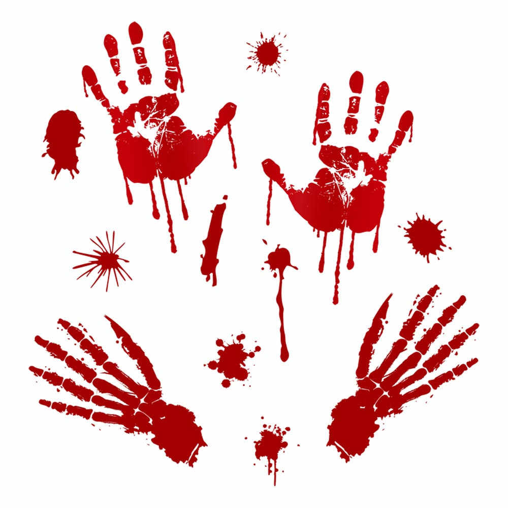 Halloween Bloody Footprints Floor Wall Stickers Clings Vampire Zombie Party Decoration Stickers Home Club Kids Glass Decal