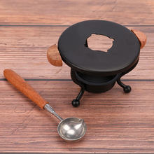 Durável retro tripé fogo pintura cera de derretimento cera tripé forno vedação cera colher