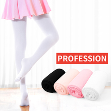 White Black Beige Pink Proffessional Dance Leggings Girl Ballet Tights Soft Microfiber Stockings For Girls