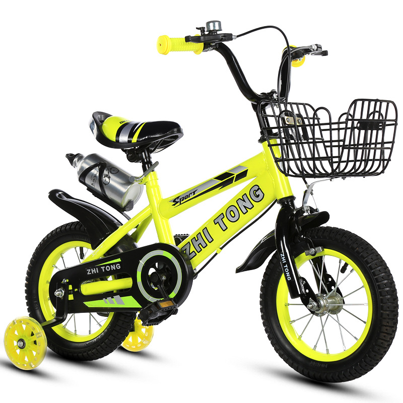 Children's Bicycle Boys and Girls Cycling Bike 12/14/16/18 Inch Folding Kid's Bicycle Light Students Bicycle