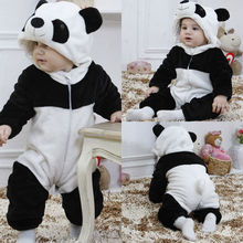 2019 Infant Romper Baby Boys Girls Jumpsuit New born Bebe Clothing Hooded Toddler Clothes Cute Panda Costumes