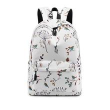 Casual Waterproof Women Backpack Flower Printing Girls College Laptop Bookbags Lady Travel Bagpack цена 2017