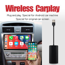 Jiuyin carplay sem fio apple android auto ligação inteligente usb dongle para carro android navegação jogador carplay interconexão telefone