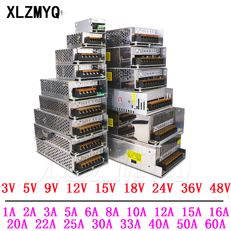 10A 20A 30A Switching Power Supply Transformer AC 110V 220V To DC 3V 5V 9V 12V 15V 18V 24V 36V 48V Power Supply Source Adapter