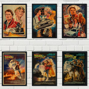 Decoration Painting Poster Science Tv-Series Wall-Art American Classic Retro-Style Back-To-The-Future