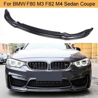 Carbon Fiber Car Front Bumper Lip Chin Spoiler Extension for BMW F80 M3 F82 M4 Sedan Coupe Convertible 2014 2019 Car Lip Spoiler