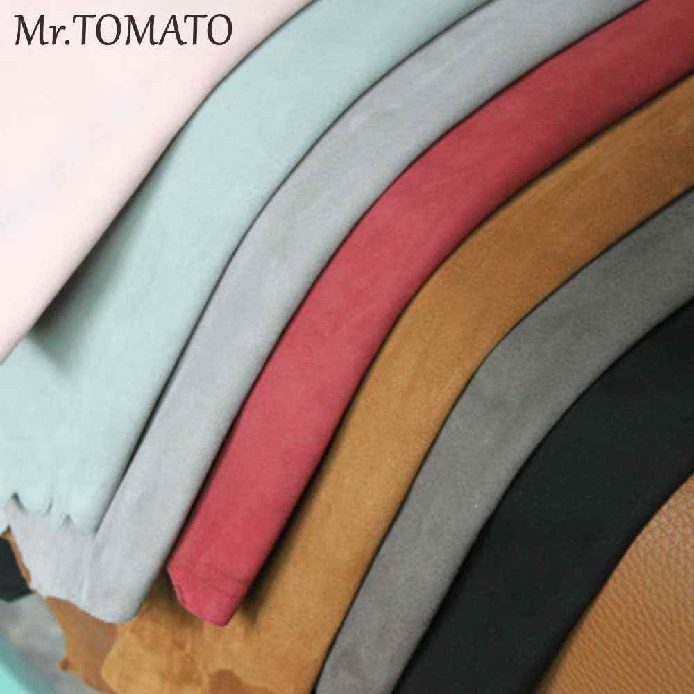 Pink Calf Skin Cowhide leather Split Suede Leather Soft Italian Suede leather for shoes and bags Salmon Pink Soft Suede leather