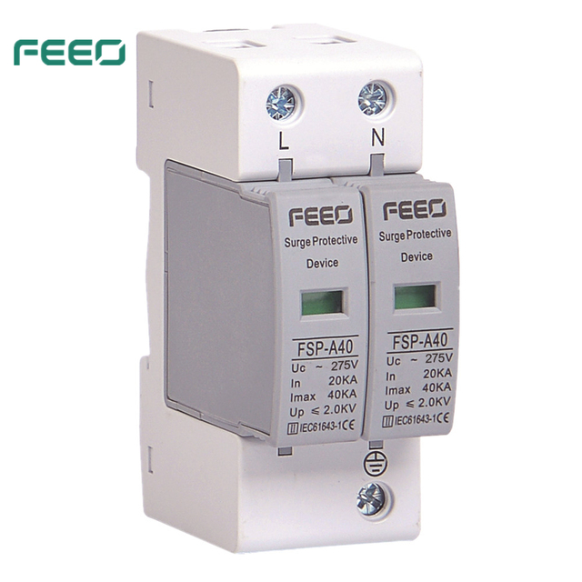 FEEO SPD AC 2P 275V surge voltage protection lightning protection over voltage protection