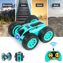 RC Car 2.4G Drift Stunt Double-sided Bounce Stunt Car Rock Crawler Roll Car 360 Degree Flip Kids Robot Remote Control Cars Toys