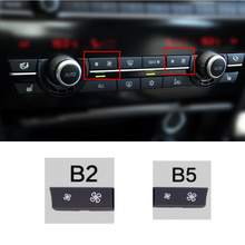 Car Heater Climate Control  wind Volume air conditioning Switch Fan Button Cap Cover Replacement for BMW F10 F11 F02 F06 F07 F18