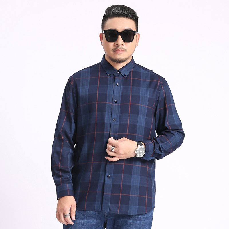 Plus Size 4xl 5xl 6xl 7xl 8xl New Fashion Men Long Sleeves Autumn Shirts Plaid Large  2020 Casual Top Blouse Shirts Camiseta