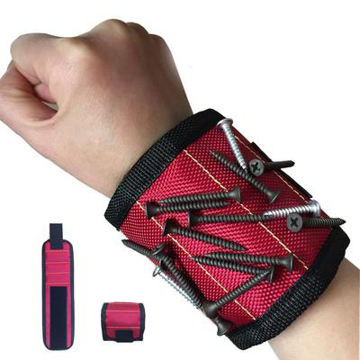 Strong Magnetic Wristband Tool Bag Magnet Electrician Wrist Tool Belt Screws Nails Drill Bits Bracelet For Repair Tool