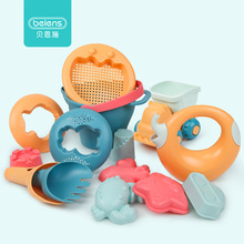 Beiens Beach Toys for Kids 5 14pcs Baby Beach Game Toy Children Sandbox Set Kit Summer Toys for Beach Play Sand Water Play Cart