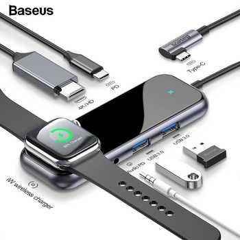 Baseus USB Type C HUB to HDMI RJ45 Multi USB 3.0 Power Adapter For MacBook Pro Air iWatch Dock 3 Port USB-C USB HUB Splitter Hub - DISCOUNT ITEM  35% OFF All Category