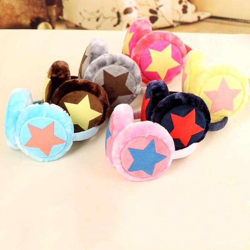 Winter Ear Warm Earmuffs For Children Adult Adjustable Multicolor Star Plush Fur Ear Muff Ear Cover Cute Headband Gift For Girl