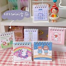 Calendário 2021 kawaii escritório desktop calendário para estudo accesseries diário para a escola lágrima calendário perpétuo planejador suprimentos