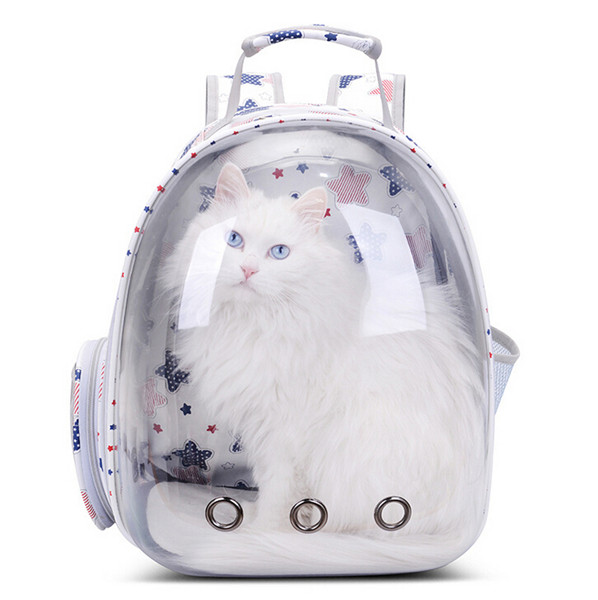 Girl Backpacks Pet Cat Outdoor Transparent Bag Venting Hole Astronaut Space Capsule Puppy Travel Crate Cage Backpack