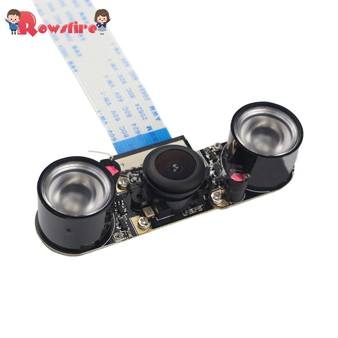 5MP Pixel Fisheye Wide-angle Infrared Night Vision Camera With Infrared Fill Light For Raspberry Pi 3B+/3B/2B