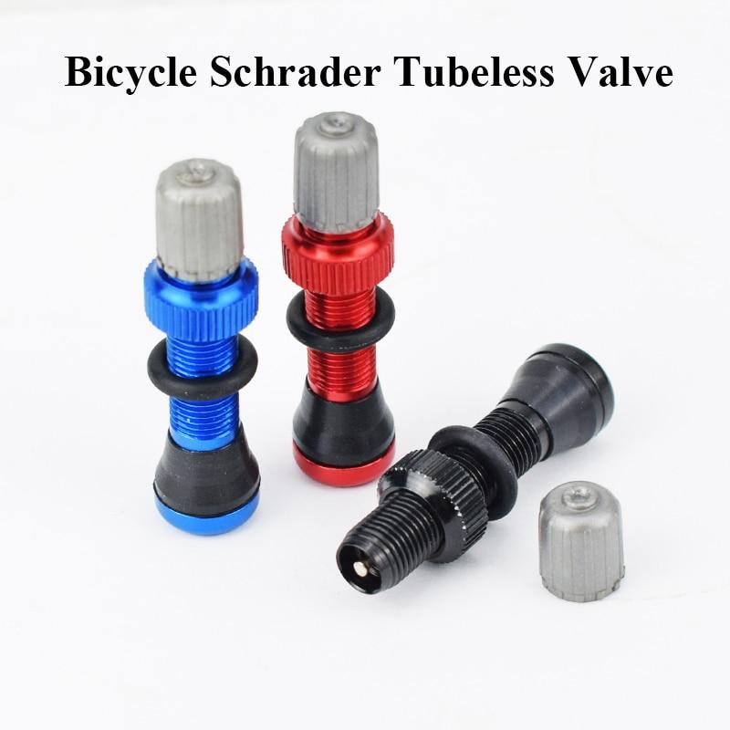 Bicycle Schrader Tubeless Valve Bike Valve Rim Wheel Tubeless Tire Tyre Valve US