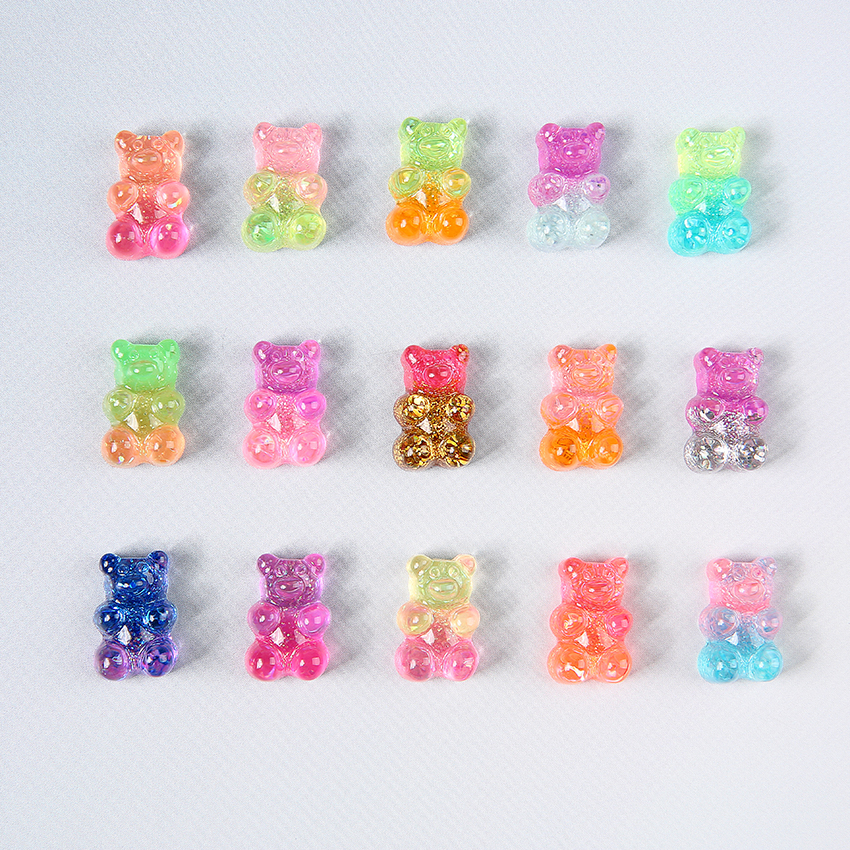 Closeout DealsGummy Bear Craft Necklace Charms Embellishment-Decoration Scrapbooking Cabochons Candy