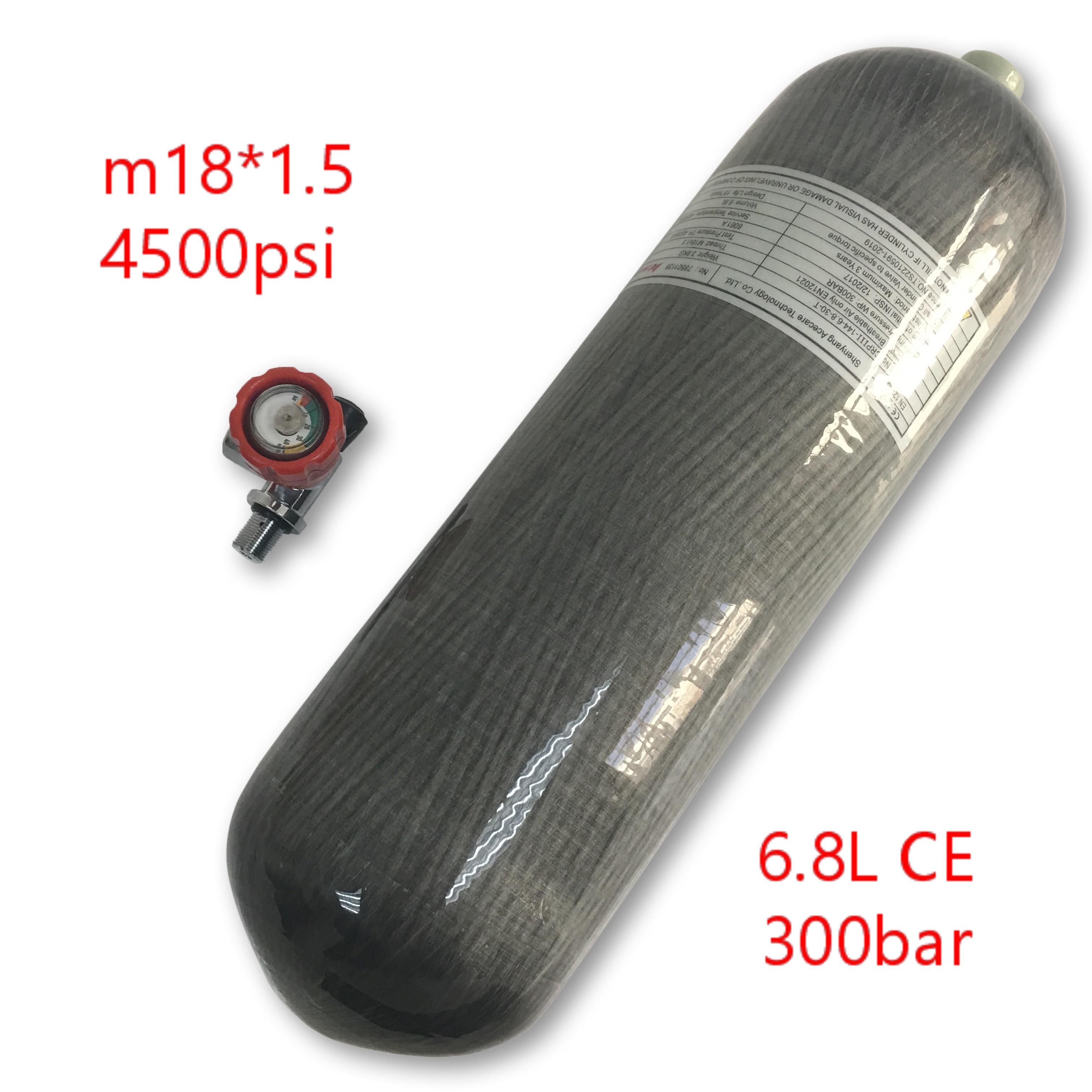 AC16811 6.8L CE Pcp Paintball Cylinder 4500Psi Carbon Fiber Air Tank Diving Valve Scuba Cylinder Underwater Gun Condor Acecare