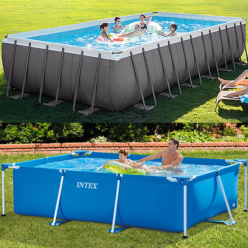 Intex Oversized Bracket Pool Large Outdoor Fish Farm Home Adult Pool Family Free Inflatable Children's Pool Customizable
