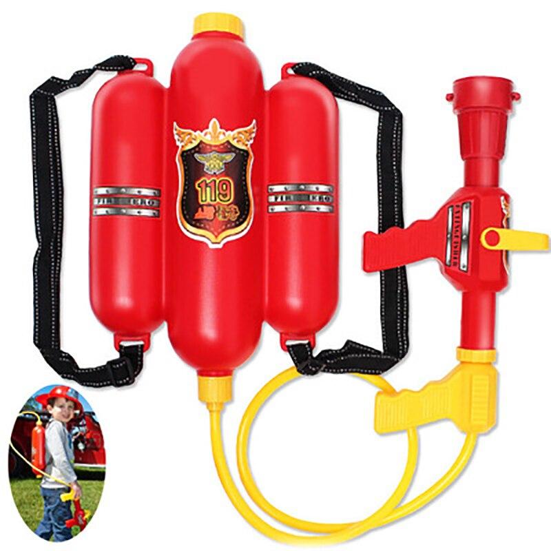Children Backpack Water Gun Toys Fireman Extinguisher Toy Air Pressure Water Gun For Kids Summer Beach Party Games Gifts