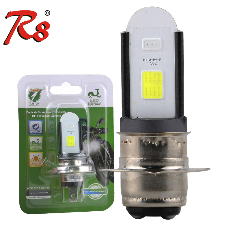 RTD M11U <font><b>LED</b></font> Headlight <font><b>Bulbs</b></font> <font><b>H4</b></font> HS1 P43T P15D H6 For <font><b>Motorcycle</b></font> Scooters ATV Driving Headlamp <font><b>Bulb</b></font> 8W 850LM White AC DC 12V image