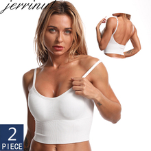 Women Underwear Padded Tank-Top Camisole Seamless Sexy 2pcs Removable Female