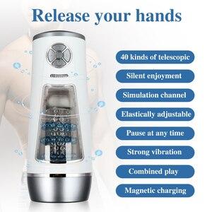 Image 3 - Automatic Rotation Masturbator For Men Piston Retractable Strong Suck High Speed Vibrator Sex Toy For Men Vagina Cup Sex Machine