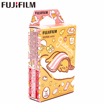 New Fujifilm 10 sheets Instax Mini Gudetama Instant Film photo paper for Instax Mini 8 7s 9 25 50s 90  SP-1 SP-2 Camera fujifilm colorfilm candypop 10 1pk для instax mini 8 7s 25 50s 90 polaroid 300 instant 16321418 70100139614