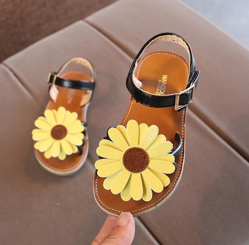 Bebek rahat sandalet yaz yeni kız plaj ayakkabısı çiçek çocuklar rahat sandalet çocuk moda spor sandalet boyutu 21-35