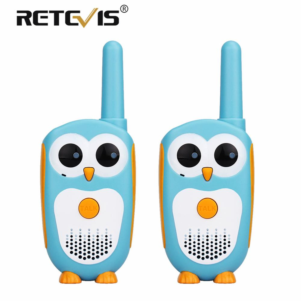 2pcs Retevis RT30 Cute Owl Toy Walkie Talkie Kids Mini Portable Children Two-Way Radio 0.5W PMR446 PMR Christmas Gift Xmas Gift