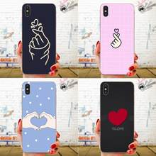 ТПУ горячие продажи любовь на пальце Kpop Сердце для Huawei Honor 4C 5A 5C 5X 6 6A 6X 7 7A 7C 7X 8 8C 8S 9 10 10i 20 20i Lite Pro(China)