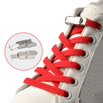 Elastic Shoelaces Double Buckle Flat No Tie Sneakers Shoelaces Shoes Rope Shoe Tie Shoes Laces Lazy Lace Shoe Accessories Black darseel shoe accessories shoelaces as