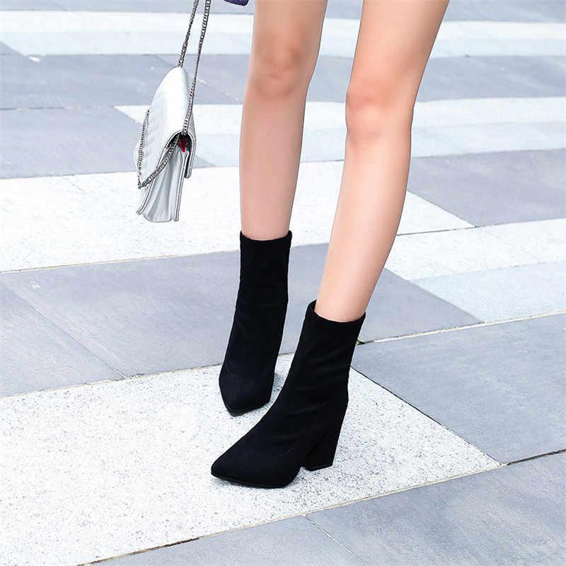 2019 jesień i zima nowy kobiety wygodne płytkie usta wskazał buty damskie zipper proste słodkie dzikie buty t01