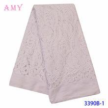 Чистый белый Высокое качество Чистая французская вышивка гипюр
