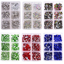 1200 stücke Mix Größen Nicht Hot Fix Strass Set Flatback Kristall Nail art Strass Glas Strass für DIY Dekoration B1378(China)