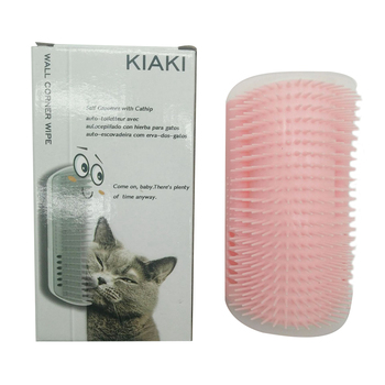 Lengthen Cat Corner Petting Post Massage Brush Rubbing Device Cat Tickle Toy Massage Brush Cat Rubbing Face Scratching Device pet cat wall corner hair massager cat scratching itchy scratching cat cat comb massage corner brush comb