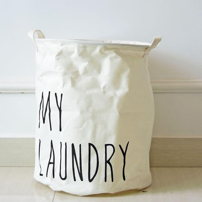 Large Laundry Basket Collapsible Child Toy Storage Laundry Bag Dirty Clothes Hamper Organizer Bathroom Laundry Bucket