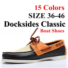Men Genuine Leather Driving Shoes,New Fashion Docksides Clas