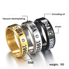 Kpop bangtan Three Colors Ring V J-HOPE Rap Monster etc Personalize Gothic Chorker For Men Women Bangtan Jewelry