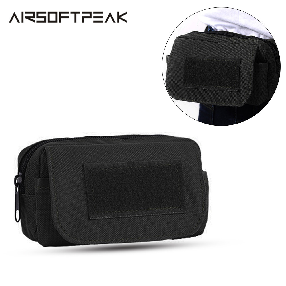 AIRSOFTPEAK Tactical Molle Pouch Waist Bag Phone Holder Belt EDC Multifunctional Tool Pack Outdoor Camping Hiking Hunting Tools