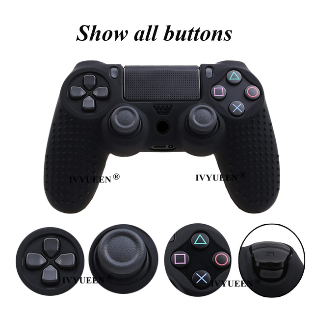 IVYUEEN 25 Colors Anti-slip Silicone Cover Skin Case for Sony PlayStation Dualshock 4 PS4 DS4 Pro Slim Controller & Stick Grip 4